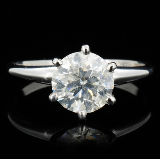 14K White Gold 1.51ct Diamond Solitaire Ring