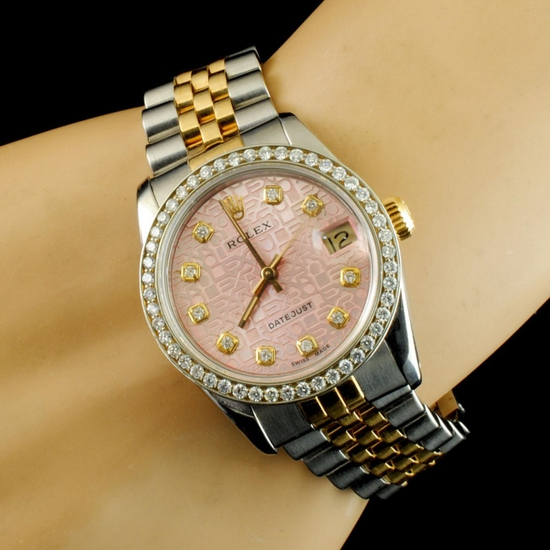 Rolex DateJust 1.00ct Diamond 31MM Mid-Size Watch