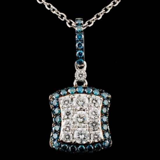 14K Gold 1.07ctw Fancy Diamond Pendant