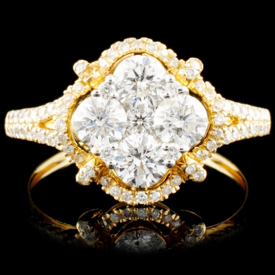 14K Gold 1.45ctw Diamond Ring