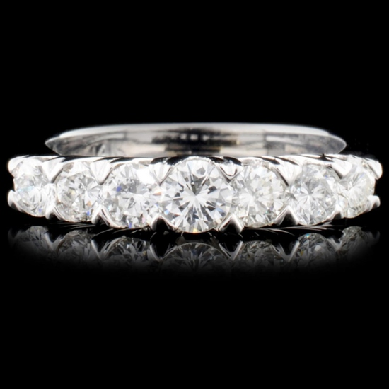 Solid Platinum 1.00ctw Diamond Ring