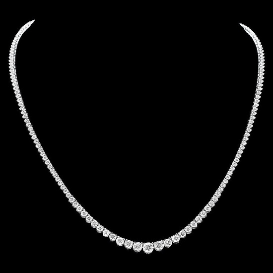 18k White Gold 12.00ct Diamond Necklace