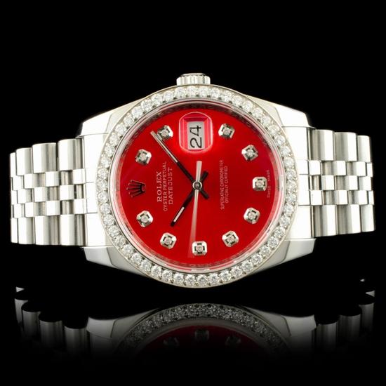 Rolex DateJust 116234 SS 1.35ct Diamond 36MM Watch