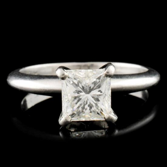 1.27ctw Diamond Platinum Solitaire Ring