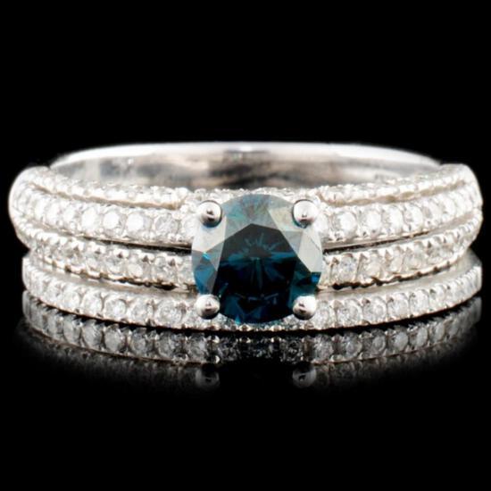 14K Gold 1.07ctw Fancy Color Diamond Ring
