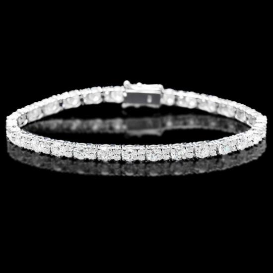 18k White Gold 9.00ct Diamond Bracelet
