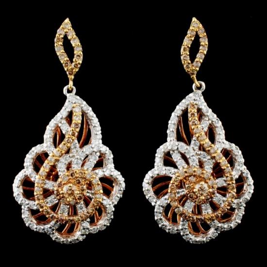 14K Gold 1.71ctw Diamond Earrings