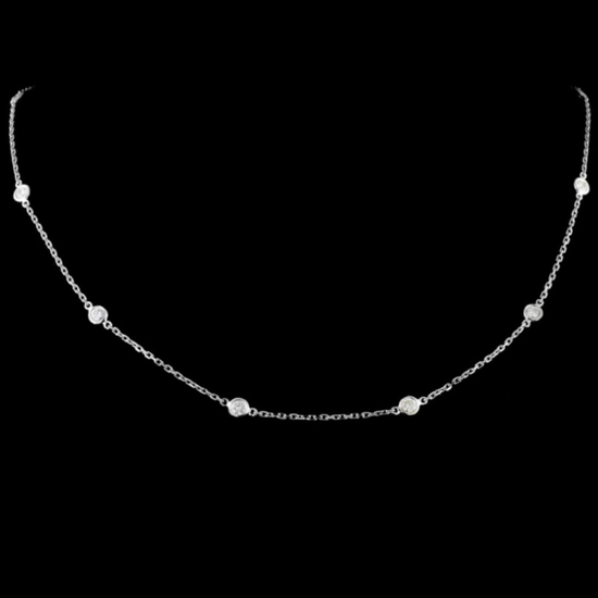 18K Gold 1.13ctw Diamond Necklace