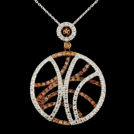 14K Gold 1.03ctw Diamond Pendant