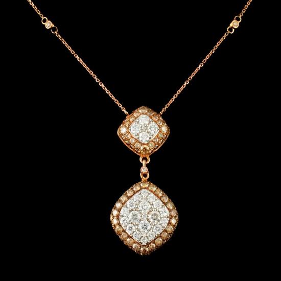 14K Gold 2.08ctw Diamond Pendant