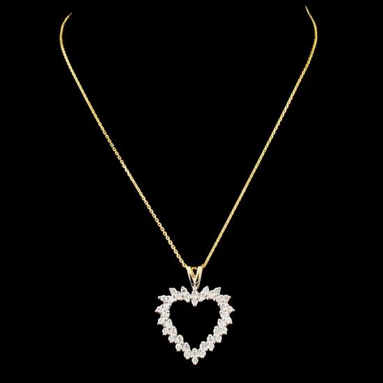 14K Gold 0.53ctw Diamond Pendant