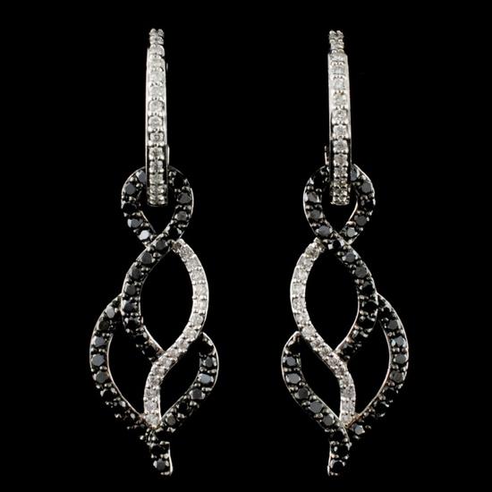 14K Gold 0.93ctw Diamond Earrings