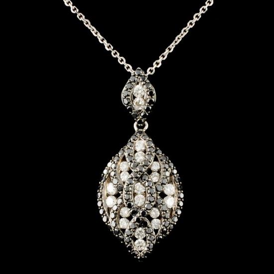 14K Gold 1.35ctw Diamond Pendant