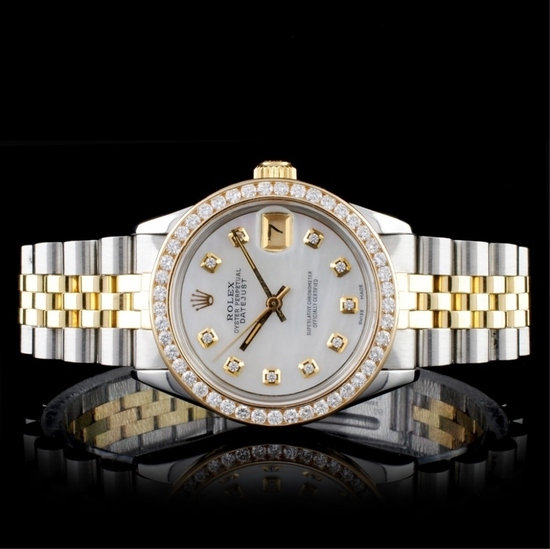 Rolex DateJust Diamond 31mm Wristwatch