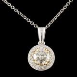 14K TT Gold 0.65ctw Diamond Pendant
