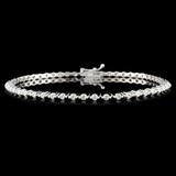18K Gold 1.42ctw Diamond Bracelet