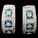 14K Gold 1.82ctw Diamond Earrings