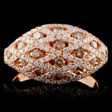 14K Rose Gold 1.13ctw Fancy Color Diamond Ring