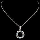 14K Gold 0.26ctw Fancy Color Diamond Pendant