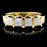 18K Yellow Gold 0.62ctw Diamond Ring