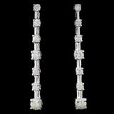18K White Gold 0.50ctw Diamond Earrings