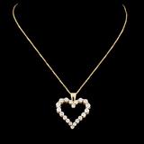 14K Gold 0.74ctw Diamond Pendant