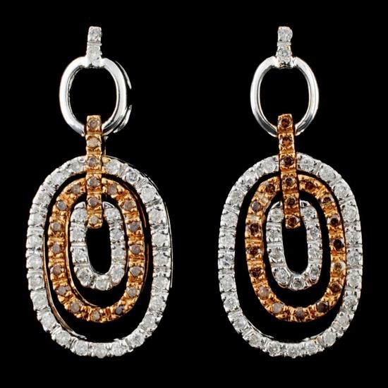 14K Gold 1.30ctw Diamond Earrings