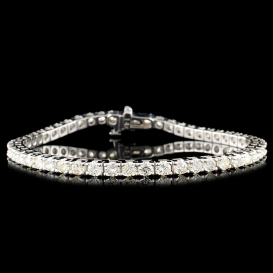 14K Gold 4.00ctw Diamond Bracelet