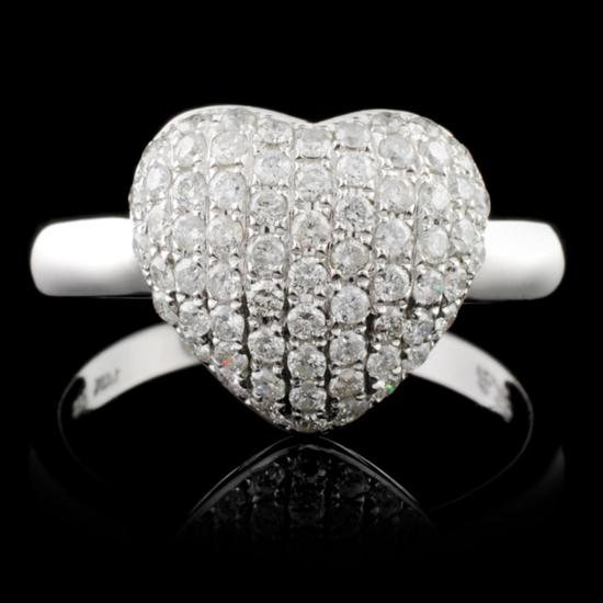 14K White Gold 0.56ctw Diamond Ring