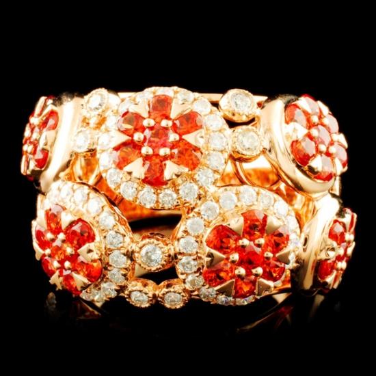 14K Gold 2.13ct Sapphire & 0.78ctw Diamond Ring