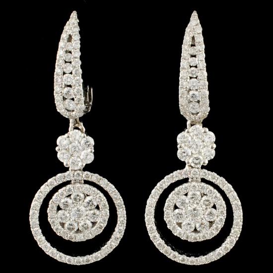 18K Gold 1.43ctw Diamond Earrings