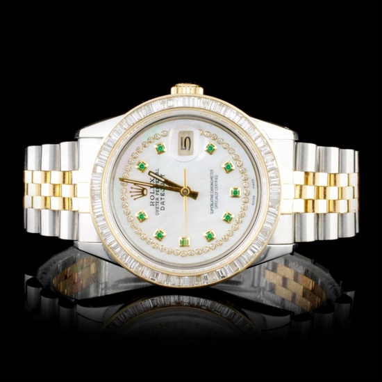Rolex DateJust 3.00ct Diamond 36mm Wristwatch