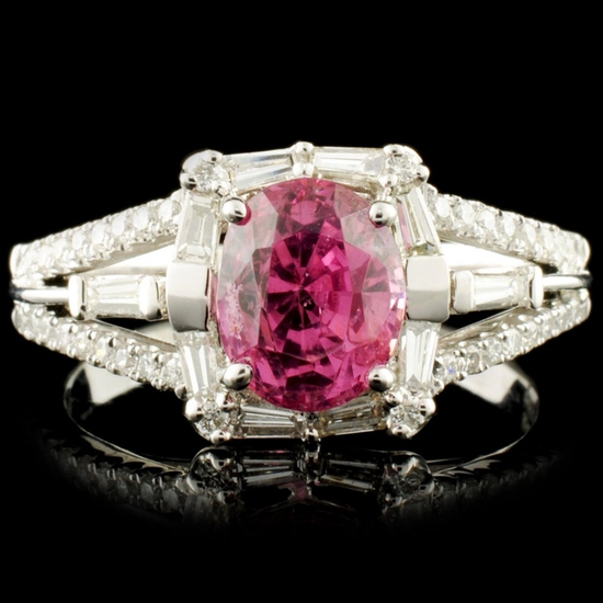 18K Gold 1.94ct Spinel & 0.56ctw Diamond Ring