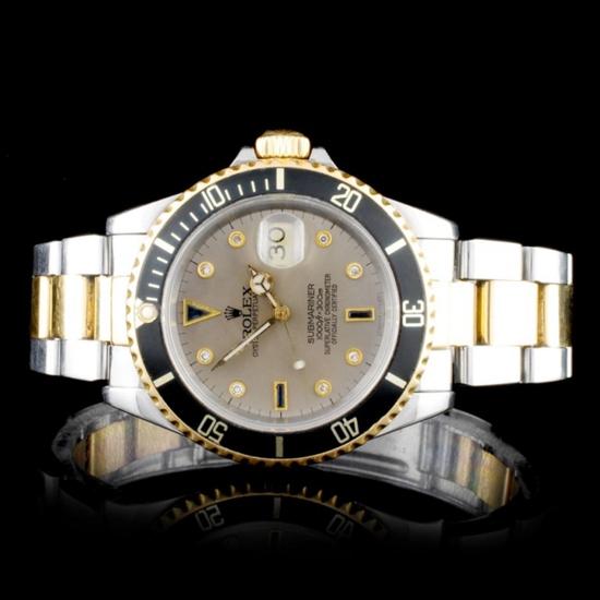 Rolex YG/SS Submariner Diamond 40MM Watch