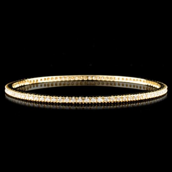 14K Gold 1.83ctw Diamond Bracelet
