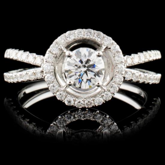 18K White Gold 0.76ctw Diamond Ring