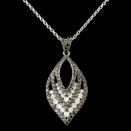 14 Gold 1.22ctw Diamond Pendant