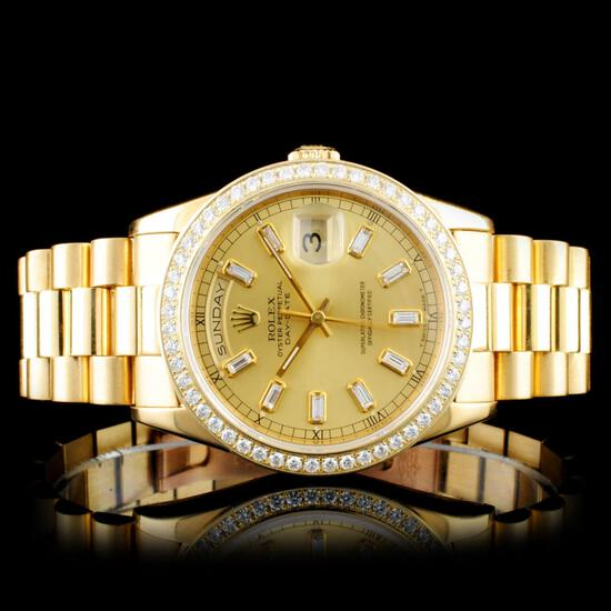 Rare Diamond 18K Jewelry & Certified Rolex Watches