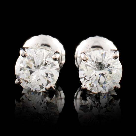 14K Gold 0.90ctw Diamond Earrings