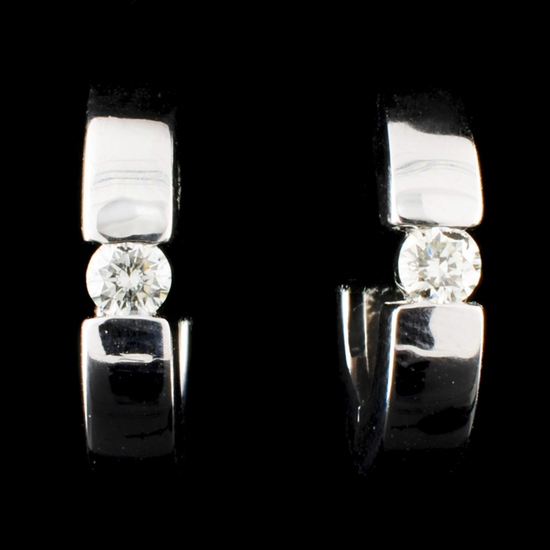 14K Gold 0.20ctw Diamond Earrings