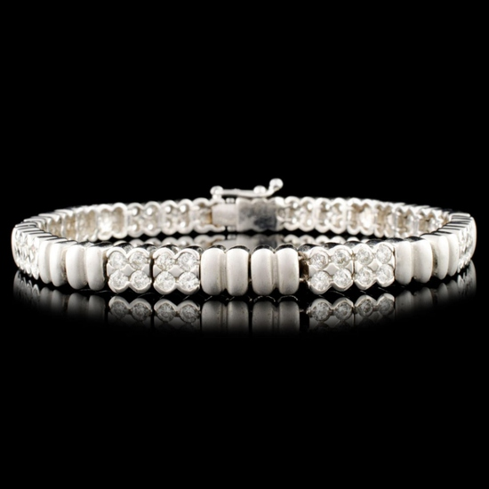 14K Gold 2.82ctw Diamond Bracelet