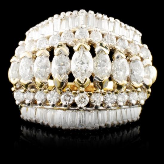 14K Gold 3.15ctw Diamond Ring