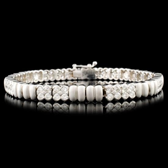 14K Gold 2.82ctw Diamond Bracelet