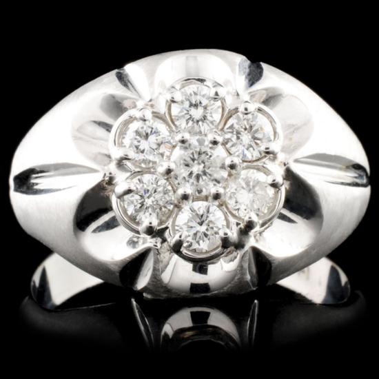 14K White Gold 0.69ctw Diamond Ring