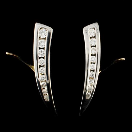 14K Gold 0.43ctw Diamond Earrings