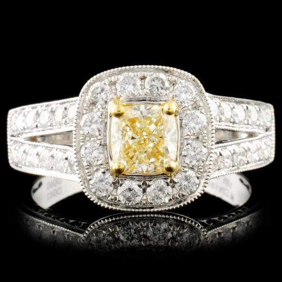 18K Gold 1.22ctw Diamond Ring