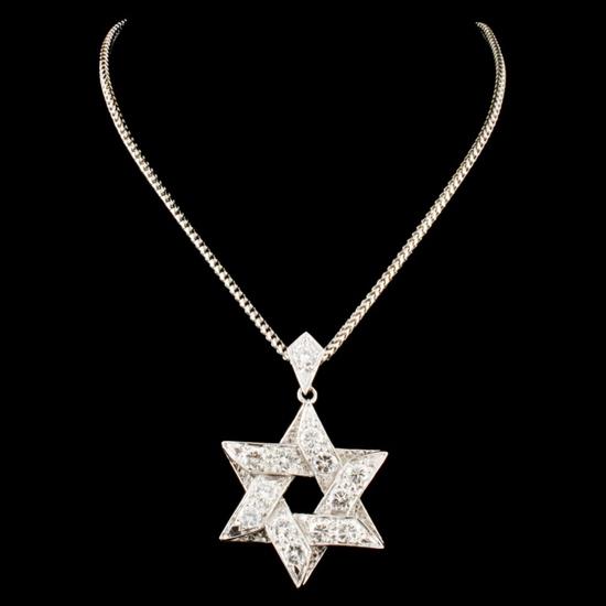 14K Gold 2.99ctw Diamond Pendant