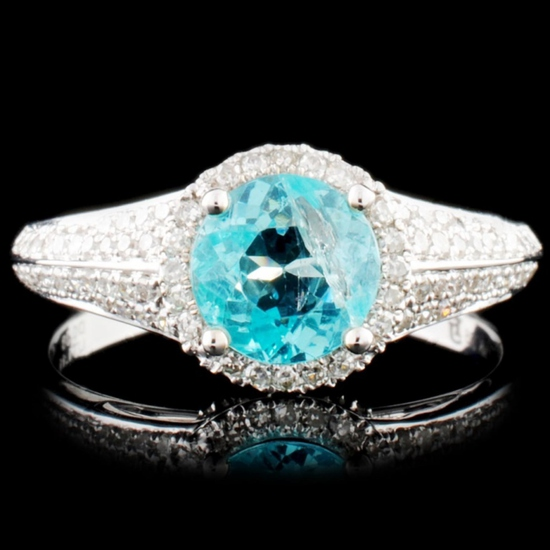 14K Gold 1.11ct Apatite & 0.38ctw Diamond Ring