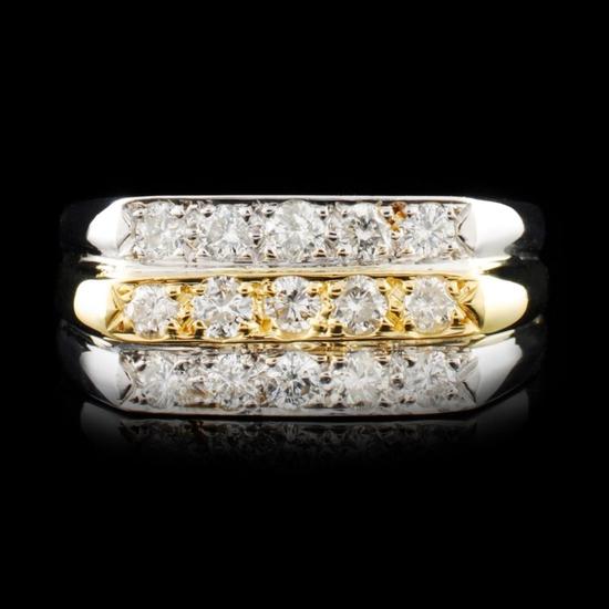 14K Gold 0.86ctw Diamond Ring