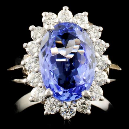 14K Gold 3.47ct Tanzanite & 0.64ctw Diamond Ring